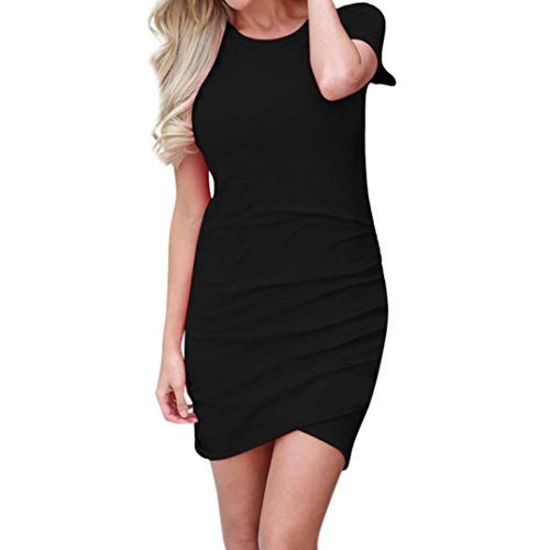 Usstore Dress for Women Short Sleeve O-Neck Summer Casual Slim Clubwear Dresses