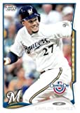 2014 Topps Opening Day #144 Carlos Gomez - Milwaukee Brewers (Baseball Cards)