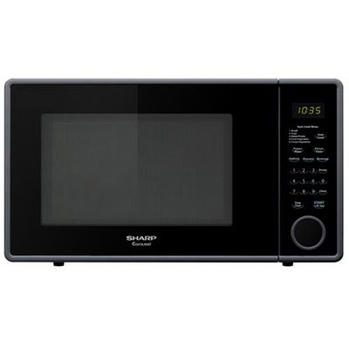 Sharp R-309YK Microwave (1.1 cu.ft.), Black, Standard
