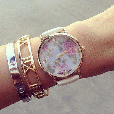 fenkoo Vintage Relojes para mujeres, Mujeres de flores, Mujeres Relojes Retro, Vintage Mujer