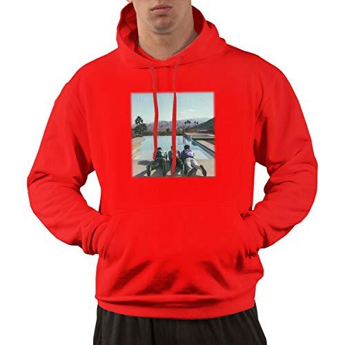 (StreetGame Jonas Brothers Happiness Begins Album Men's Half Dome Pullover Hoodie Sweatshirt Red)