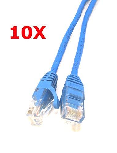 Menotek 3ft Cat5e Network Ethernet Patch Cable 10 Pack - Blue