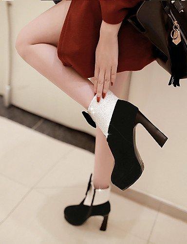 5 Semicuero Stiletto us10 Mujer Uk3 A Trabajo Casual Uk8 Y Cn43 Tacón us5 Xzz De Cn34 Red Boda Moda 5 Vestido La Black Botas Comfort Oficina Eu42 Zapatos Exterior Eu35 IqHTg