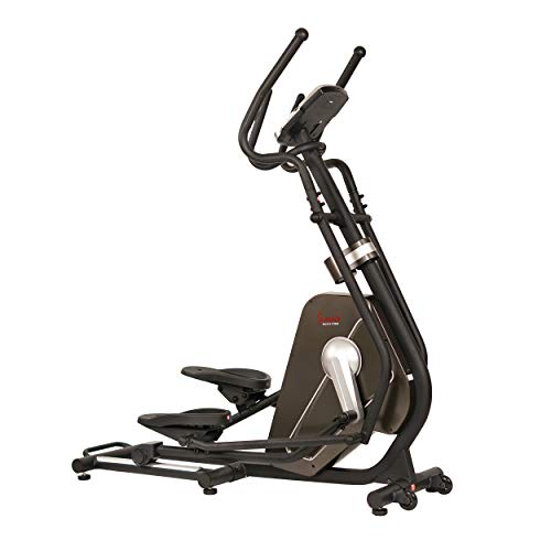 Sunny Health & Fitness Magnetic Elliptical Trainer Machine w/Tablet Holder, LCD Monitor, 265 LB Max Weight and Pulse Monitoring - Circuit Zone