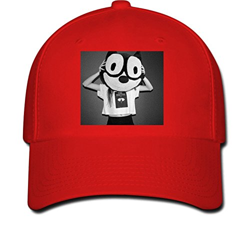 Junny My head is big Men Solid Flat Bill Hip Hop Snapback Baseball CM Red Red River Winery