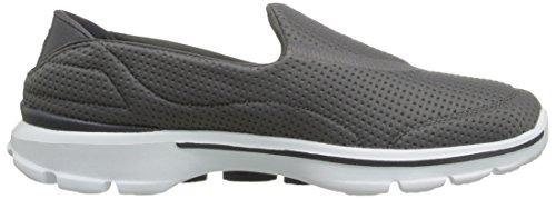 Skechers Damen Go Walk 3Unfold Sneaker Grau (Char)