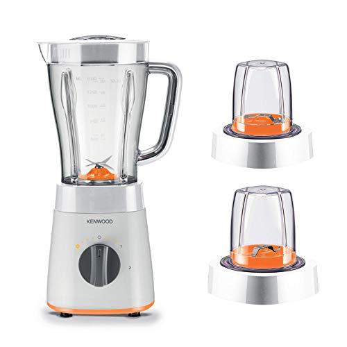 Kenwood Blender, 500W, 2L Jar, 2 Speeds + Pulse, 2 MultiMills, White – BLP15.360WH