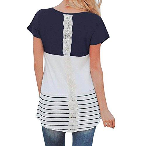 Al Pregnancy shirt S Manica Estive Nere Blu Seno Nursing Croce Top Girocollo T Navy Righe A Donna And Corta Allattamento Grigie xl IzRXRx5w