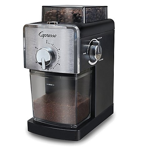 Capresso 591.05 Coffee Burr Grinder Stainless Steel