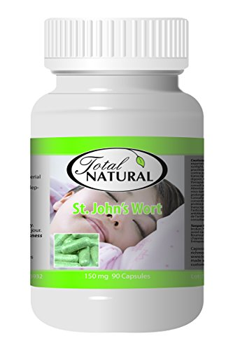 St. John's Wort 150mg 90c - [12 bottles] Sleep Control by Total Natural