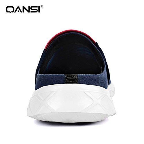 QANSI サンダル メンズ レディーズ 軽量 通気 速乾 メッシュ 水陸両用 室内 履き替え サボ 自宅用 オフィス 12色 23.0cm-28.5cm