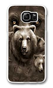Aurora Wolfpack Polycarbonate Hard Case Cover for Samsung S6/Samsung Galaxy S6 Transparent