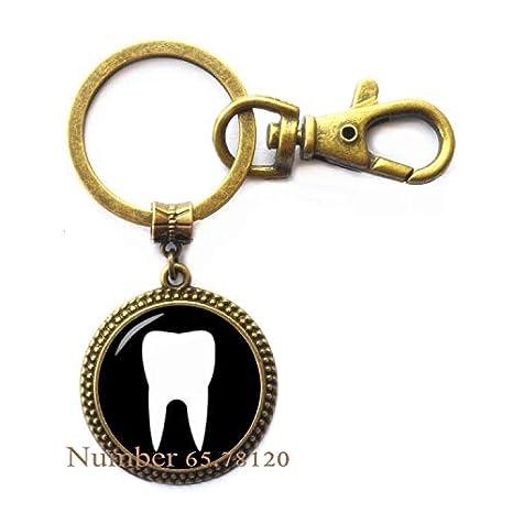 Amazon.com: Llavero de dientes – joyería dentista – regalo ...