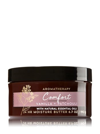 - Bath and Body Works Aromatherapy Comfort Vanilla Patchouli Body Butter 6.7 ounces