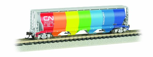 Bachmann Industries Inc. Canadian 4-Bay Cylindrical Grain Hopper Canadian National - Demonstrator - N (Bachmann Cylindrical Hopper)