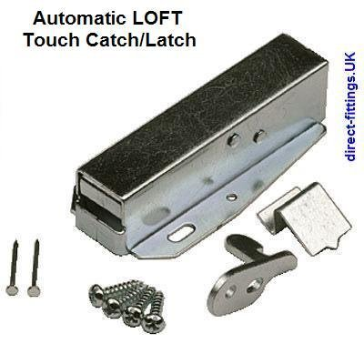 1-3 AUTOMATIC sprung/Spring TOUCH Latch/catch/caravan/LOFT Push to open  door  With fixings & instructions  (2x Catches)