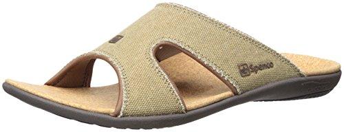 Java Slide - Spenco Men's Kholo Slide Sandal, Straw/Java/Cork, 15 M