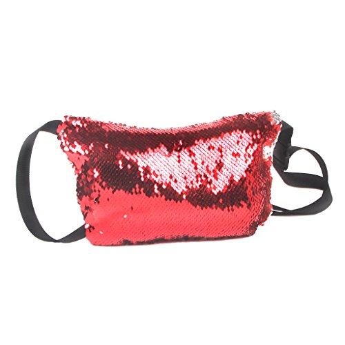 Body Baoblaze Pack De Lentejuelas De Rosa Fanny Creativa Cross Bolso Rojo Oro Mujer Plata Hombro vr1qXHxr