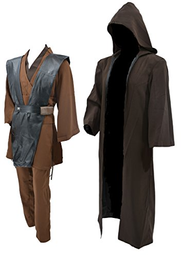 - Hideaway Star Wars Adult Deluxe Anakin Skywalker Costume [ Size : M, L, XL ] Cosplay (L) Brown