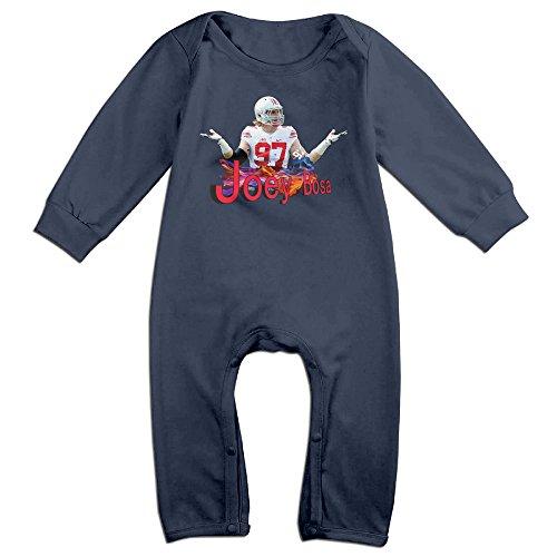 Z-Jane Joey #97 Bosa Buckeyes Football Newborn Babys Long Sleeve Bodysuit Outfits Navy 18 Months