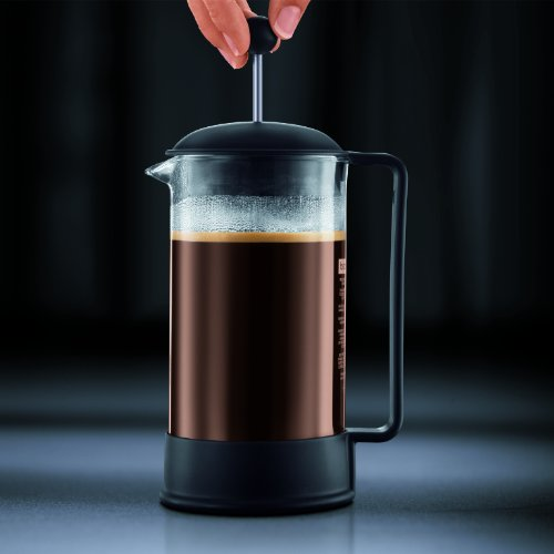 Bodum Brazil French Press Coffee Maker, 34 Ounce, 1 Liter, (8 Cup), Black by Bodum (Image #4)