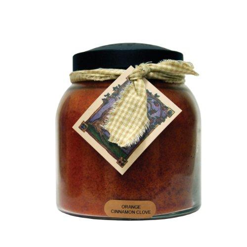 A Cheerful Giver A Orange Cinnamon Clove 34 oz. Papa Jar Candle, 34oz