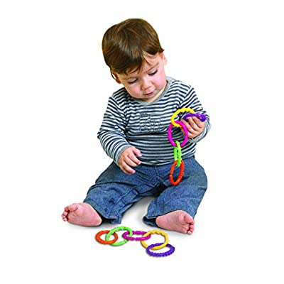 Edushape Linkets Basic, 12 Piece : Baby Shape And Color Recognition Toys : Baby