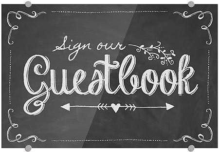 Chalkboard Guestbook Premium Brushed Aluminum Sign 5-Pack 18x12 CGSignLab
