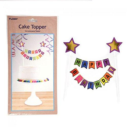 Happy Birthday Bunting Banner Cake Topper by FLOMO
