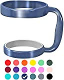 : F-32 Handle - 18 COLORS - Available For 30oz or 20oz YETI, RTIC, OZARK TRAIL, SIC CUP Rambler & More Tumbler Mug - Black Seafoam Blue Purple Wine Gray Pink Color & More - BPA FREE (30OZ, DEEP BLUE)