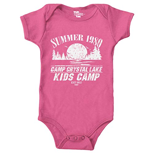 Tcombo Camp Crystal Lake Kids Camp Bodysuit (Pink,