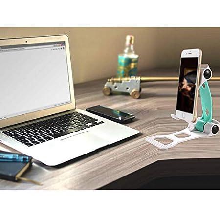 Chytaii Soporte para Movil Soporte Tablet Multi/ángulo de Movil Soporte Universal de sobremesa Port/átil Soporte Perezoso para Mesa//Escritorio Soporte de Aluminio Plegable Doble Forma de Coche