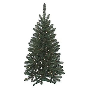 Christmas Tree J & J Seasonal Vienna 4 ft. H Multicolored Prelit Artificial Tree 235 tips 100 lights Green 17