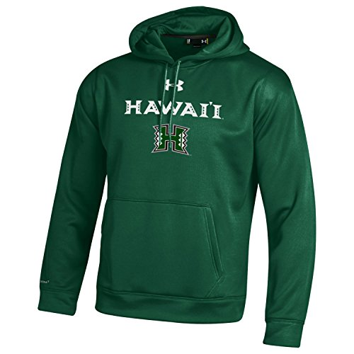 NCAA Hawaii Rainbow Warriors Men's Under Armour Fleece Hoodie, Large, Forest Green (Green Green Hawaii Warriors)