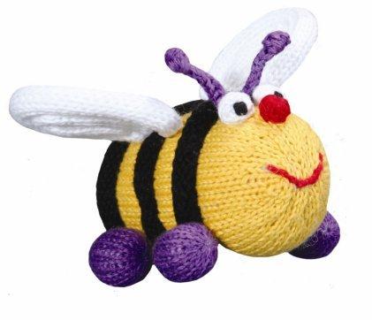 Bee Elizabeth Organic Rattle by Zubels   B007Q15JRA