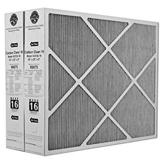 Lennox X6675 Carbon Clean 16 MERV 16 Filter 20-Inch x 25-Inch x 5-Inch (2 Pack) from Lennox