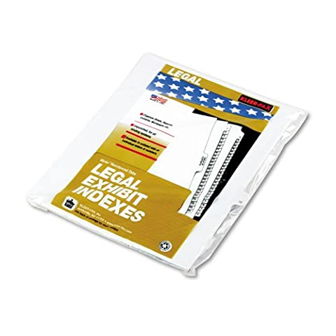 Kleer-Fax Letter Size Individually Numbered 1/25th Cut Side Tab Index Dividers, 25 Sheets per Pack, White, Number 15 - Index System 15 Tab