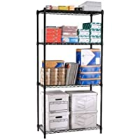OFM Complete 4-Shelf, 36 by 72 by 24-Inch, Black