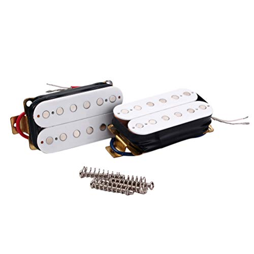 Healifty White Electric Guitar Double Coil Humbucker Electric Guitar Pickup Guitar Accessories(GMC09)