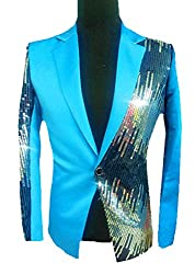 Men Sequins Moderator Sport Jackets