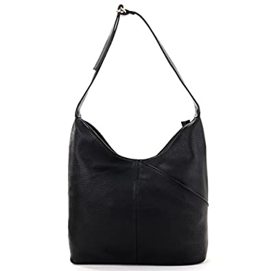 Designer Leather Look Slouch Bag Ladies Hobo Bags Black: Amazon.co ...