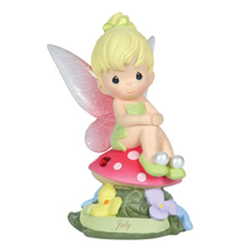 Precious Moments, Disney Showcase Collection, July Fairy As Tinker Bell, Resin Figurine, Ruby, 113214 (Wings Fairy Figurine)