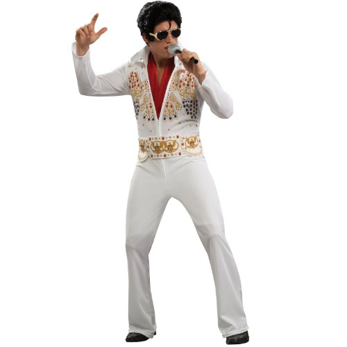 Aloha Elvis Adult Costume,White,Medium (Historical Halloween Costume Ideas)