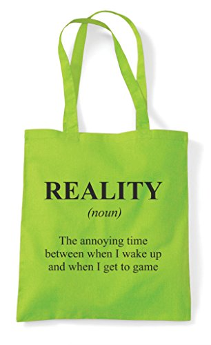 Not The Shopper Definition In Funny Dictionary Alternative Reality Tote Gaming Lime Bag vIAWqY
