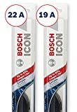 Bosch ICON Wiper Blades (Set of 2) Fits 2011-00 Ford Focus; 2015-08 Cadillac CTS; 2000-97 Chevrolet Malibu & More, Up to 40% Longer Life