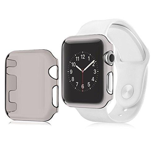 Aluminum Alloy Back Case for Apple Watch 42mm (Black) - 3