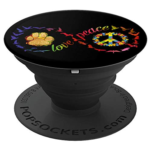 Love Peace Dog Paw Infinity Sign Perfect 70s Tie Dye Hippie PopSockets Grip and Stand for Phones and Tablets (Infinity Love Sign)