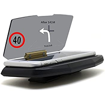 GPS Heads Up Display HUD, Megadream Universal Smartphone Car GPS Holder Mount Navigation Bracket for iPhone Xs XR X 8 Samsung Galaxy, HTC One, LG, ...