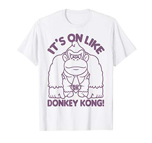 Nintendo It's On Like Donkey Kong Outline Poster T-Shirt