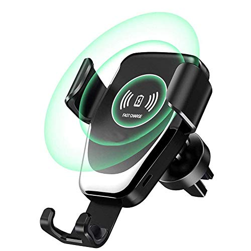Qi Fast Wireless Car Charger Mount, Mayround 10W QI Wireless Fast Charger Car Mount Air Vent Holder Stand...